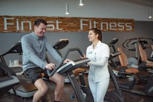 Cardio Fahrrad im Finest Fitness Club Weinheim Fitnesstraining