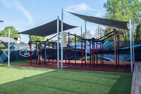 Outdoor Area im Sportpark Heppenheim